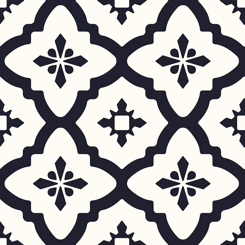 WallPops FP2480 Comet Peel and Stick - Juego de 10 azulejos para suelo, color negro Brewster Home Fashions
