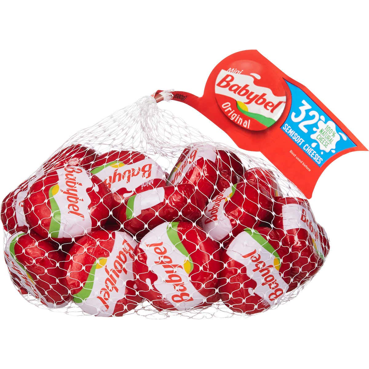 Babybel Mini Original Semisoft Cheeses, 32 count (1 Pack)