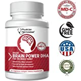 1000mg DHAx Vegan DHA, Prenatal DHA, MD-Certified with 3X MORE DHA than Krill Oil! Vegetarian Algae Based Omega Essential Fatty Acids, Omega 3, 2500mcg Astaxanthin - Physician Formulated
