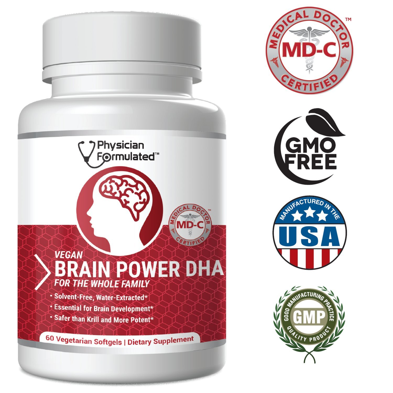 1000mg DHAx Vegan DHA, Prenatal DHA, MD-Certified with 3X MORE DHA than Krill Oil! Vegetarian Algae Based Omega Essential Fatty Acids, Omega 3, 2500mcg Astaxanthin - Physician Formulated