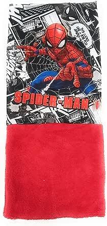 Braga de Cuello Spiderman para Niños - Bufanda Spiderman Marvel Tubular de Coralina