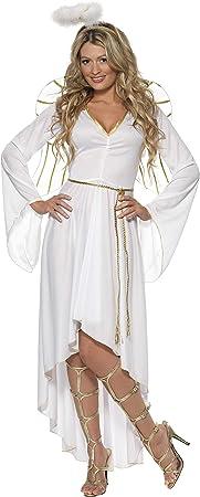 Smiffys-36977L Disfraz de ángel-Adulto, con Vestido, cinturón ...