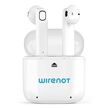 1150478ffc7 Amazon.com: True Wireless Bluetooth Airbuds Earbuds Wirenot in-Ear  Headphones with Mic Portable Charging Case Noise Cancelling Stereo Sports  Sweat Proof ...