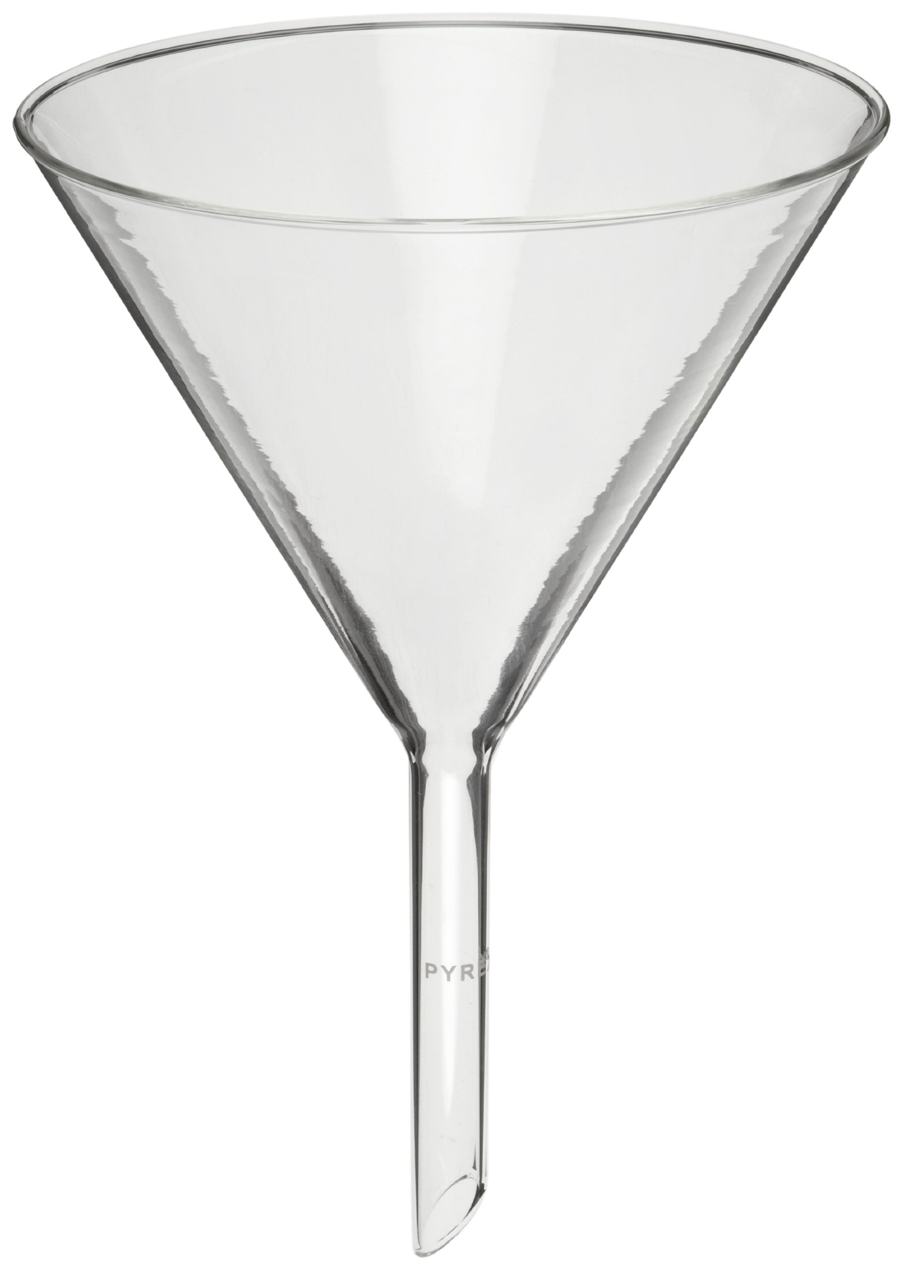 Corning Pyrex 6120-6 Borosilicate Glass Plain Funnel, with Short Wide Stem, 147mm Diameter (Pack of 6)