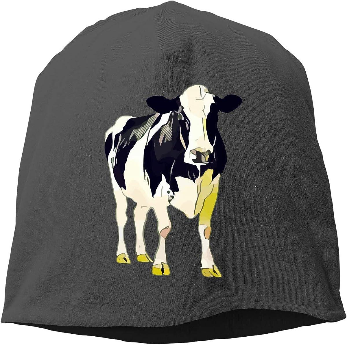 SHA45TM Moo Cow Men Women Winter Skull Cap Snowboarding Beanie Hat