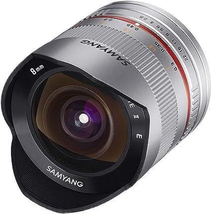 Samyang 8mm F2 8 Objektiv Für Anschluss Sony E Silber Kamera