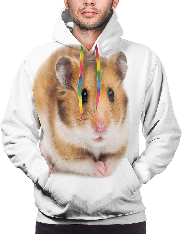 Mens Hoodie Cute Hamster Unisex 3D Novelty Hoodies