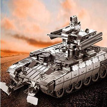 MQKZ Rompecabezas Tridimensional 3D BMPT Tanque Kit de Metal DIY Modelo ensamblado a Mano Modelo Creativo Play / Silver + Tool A / One Size: Amazon.es: Juguetes y juegos