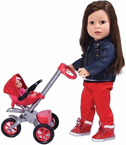 Bye Bye Baby Doll Stroller Play Set For 18 Inch Dolls Great For American Girl