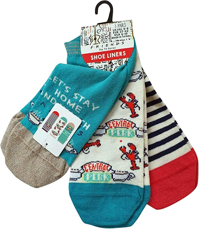 Licensed-Primark Central Perk - Pack de 3 calcetines para mujer, talla 4–8: Amazon.es: Ropa y accesorios