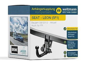 Mundo Muñeco 7d500017 Seat Leon (5 F1) + St (5 F8) + SC (5 F5)-Remolque desmontable con fahrzeugspezifischem 13 pines Juego eléctrico: Amazon.es: Coche y ...