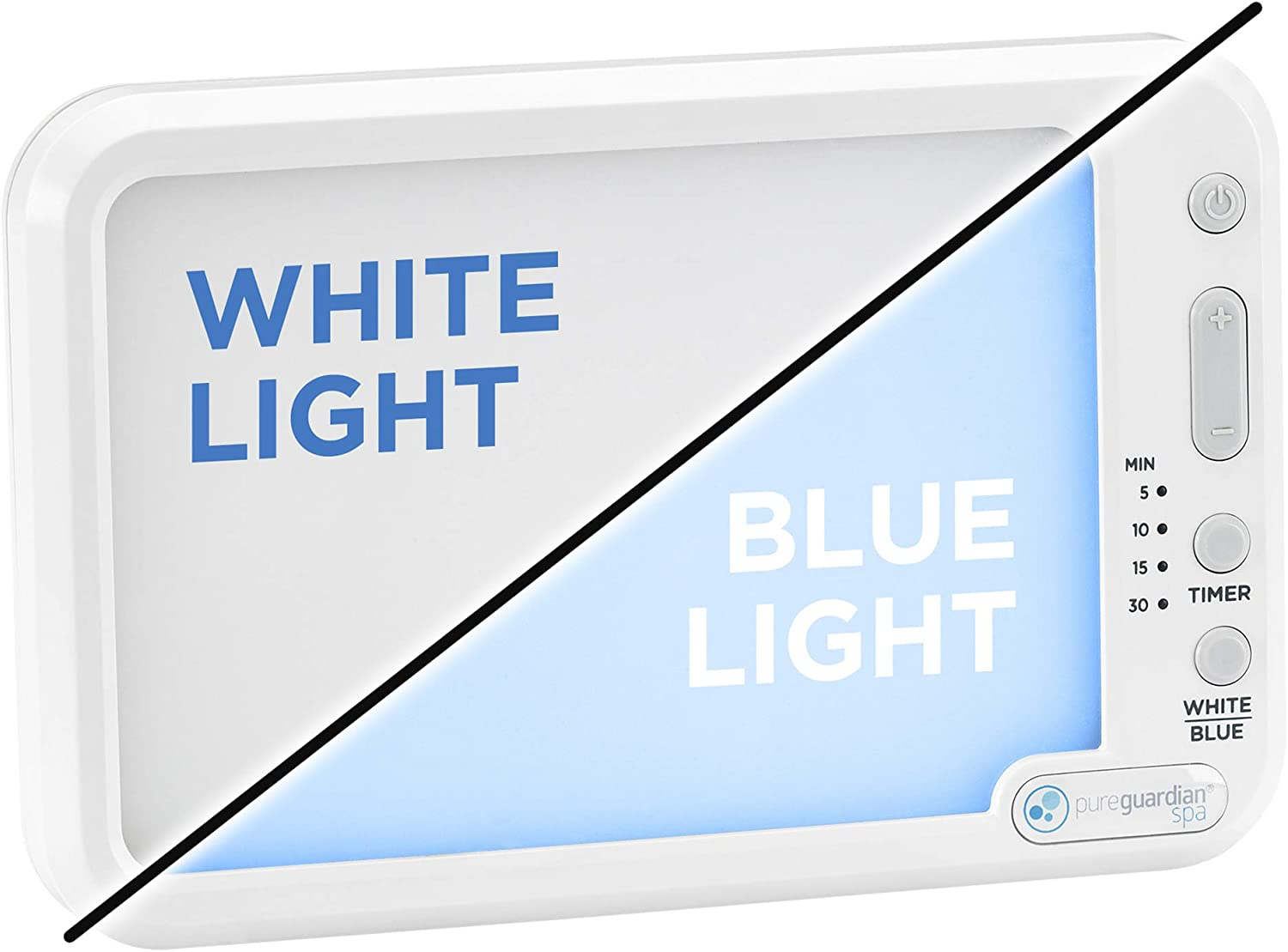 PureGuardian SPA45 10,000 LUX Full Spectrum Energy Light with Customizable Blue or White Light Therapy Intensity, Timer, Pure Guardian SPA 45 Energy Lamp