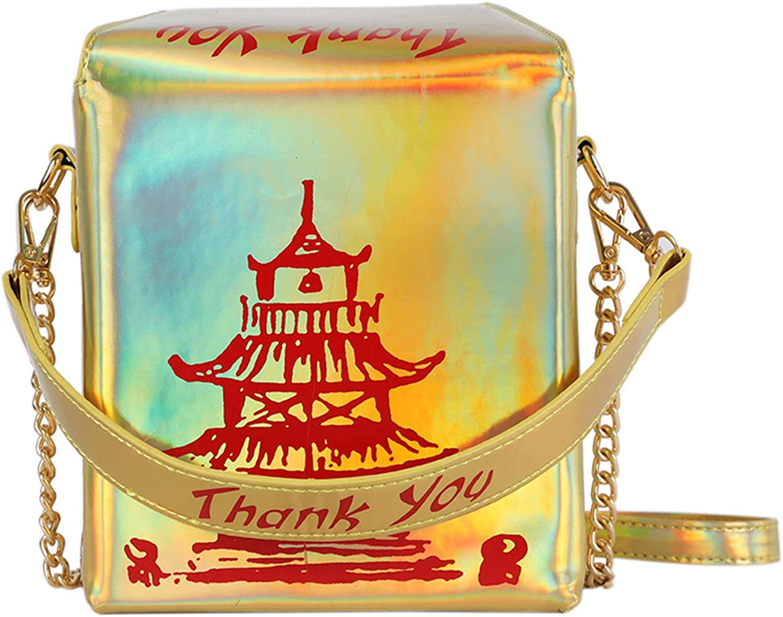 Oweisong Ladies Fashion Takeout Box Shoulder Bag Dollar Bill Tower Crossbody Handbag Cute Hundred Messenger Purse for Women