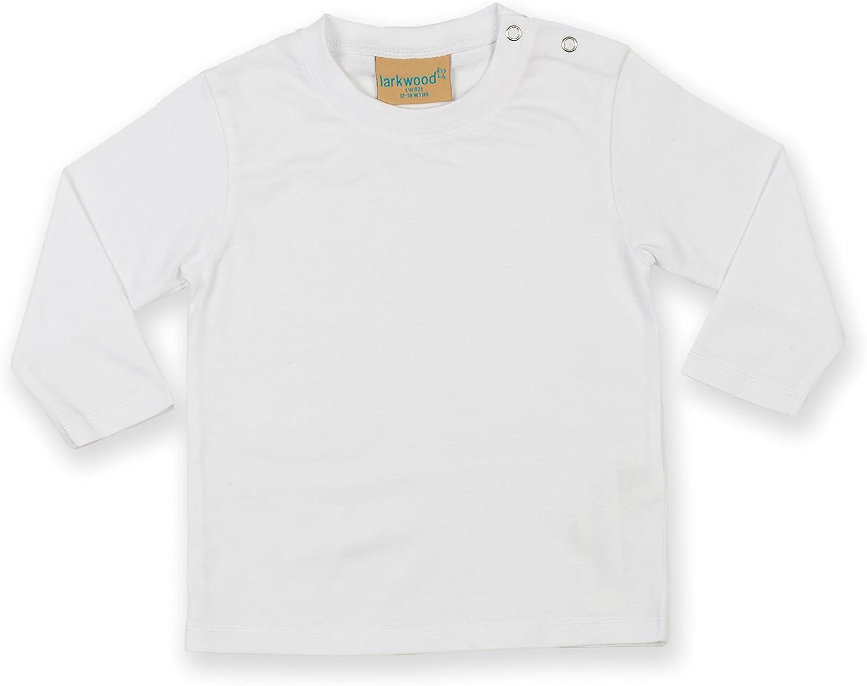 Maglia 100/% Cotone Bianco Neonato 6-12 mesi Larkwood