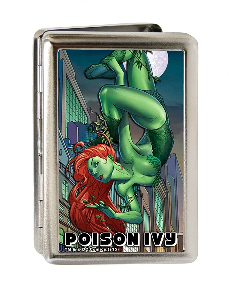 Buckle-Down Metal Wallet-Poison Ivy Hanging Upside Down//Cityscape Fcg