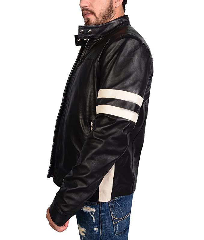 Amazon.com: abbraci Hombres Slim Fit motorista motocicleta ...