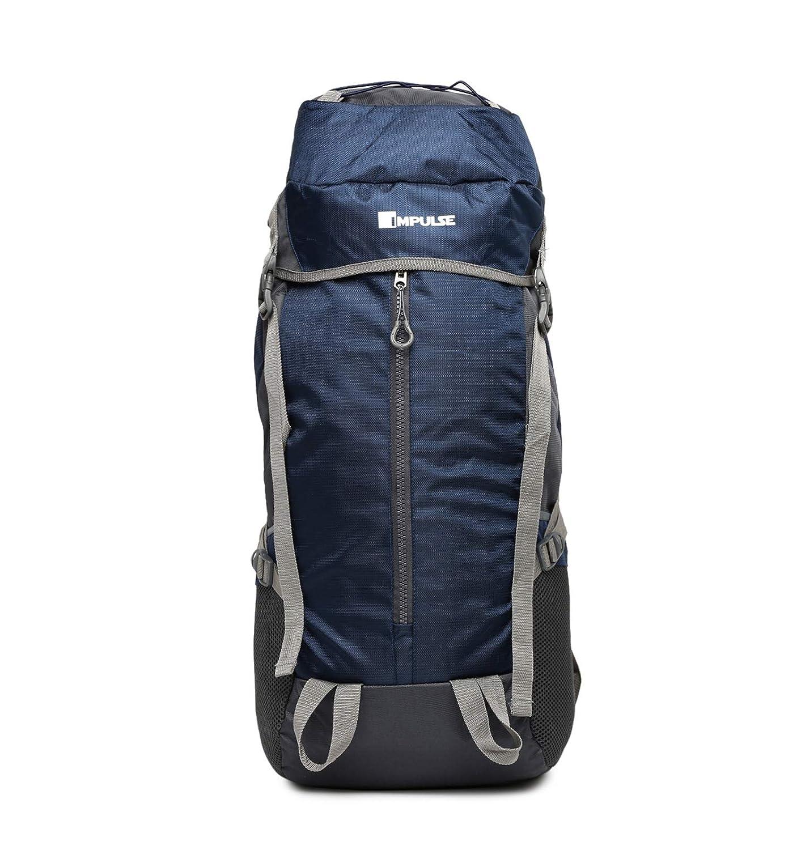 Best Of Rucksacks & Hiking Trekking Bags in India Impulse, 65 ltrs Blue Thriller Trekking Backpack