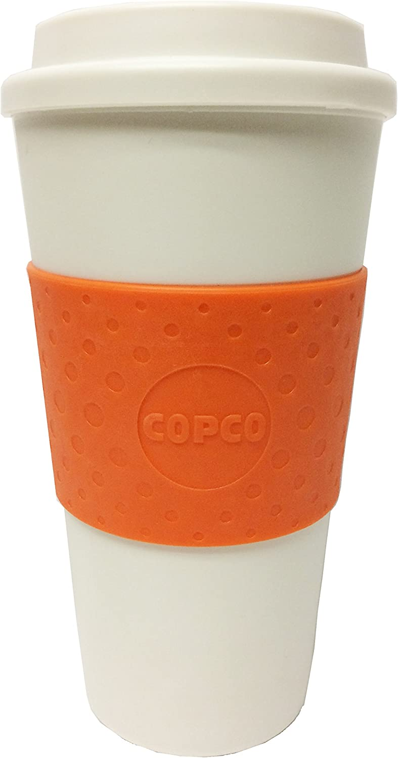Copco Acadia Insulated Travel Coffee Mug, 16 ounces, Orange