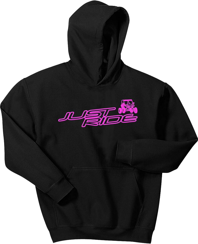 Pink Large JUST RIDE UTV Hoodie Sweat Shirt