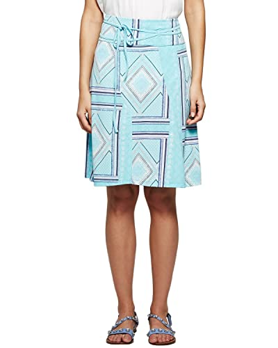 Comma 81.506.78.7773 - Falda para mujer, color mehrfarbig (blue green aop 60a6), talla 48