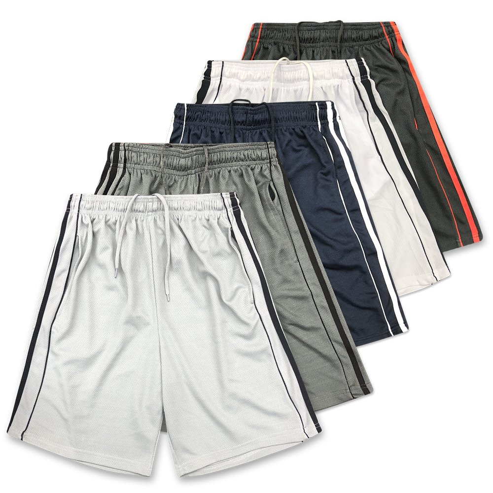 American Legend Mens Active Athletic Performance Shorts - Set 6-5 Pack, M by American Legend