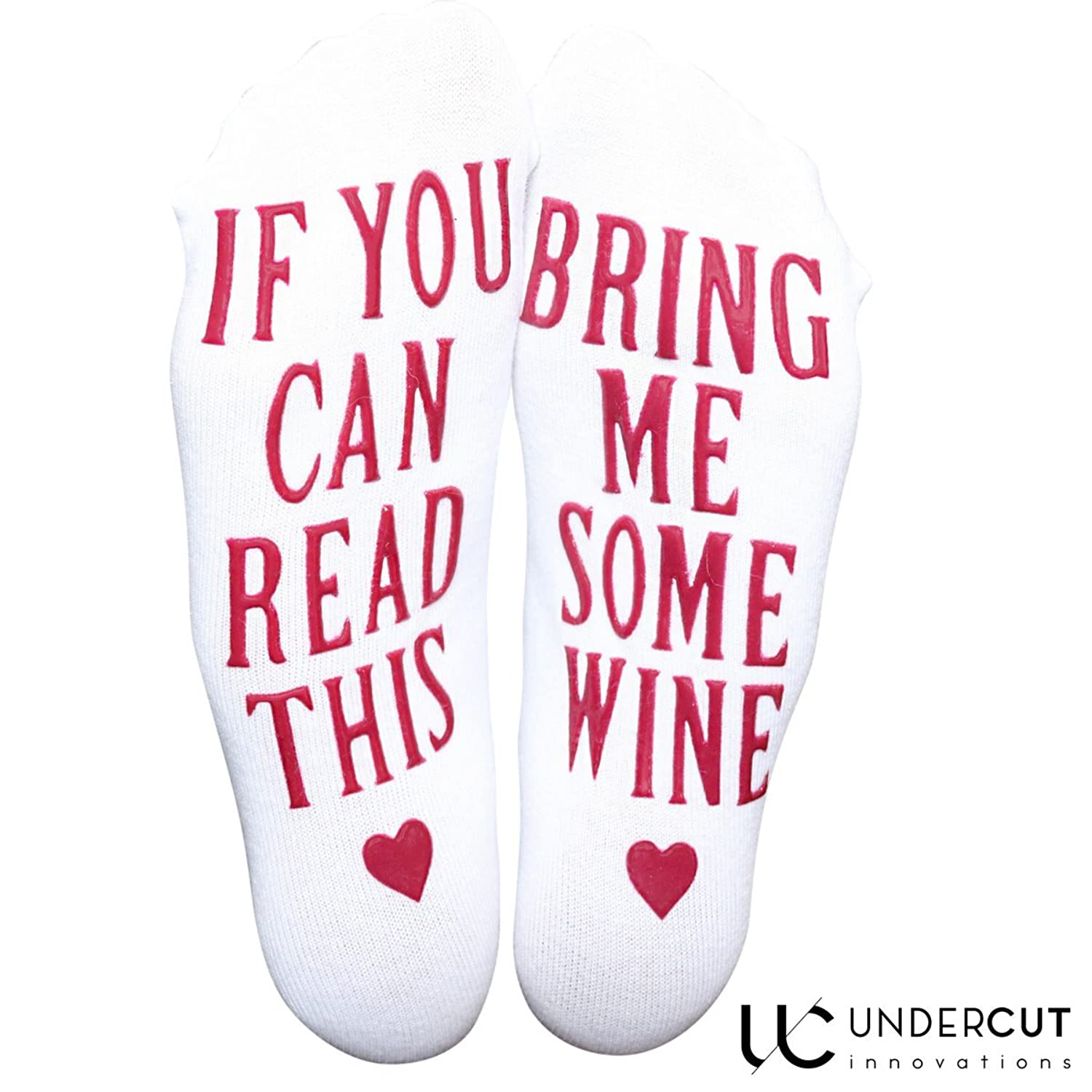 Amazon.com: Premium Combed Cotton Wine Socks + Gift Box -If You Can ...