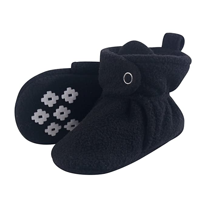836e7deb0 Little Treasure Baby Boys' Cozy Fleece Booties with Non Skid Bottom