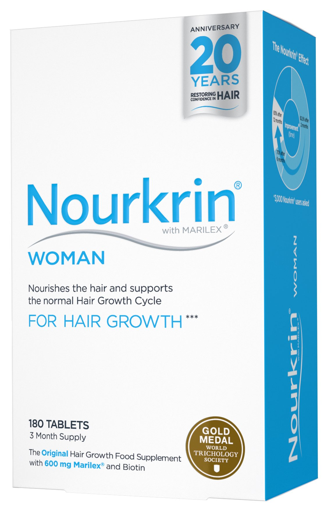 Nourkrin Woman Three Month Supply 180 tablets
