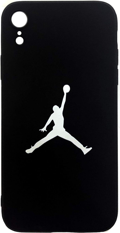 Onix Store Funda de Silicona Negra con Jugador de Baloncesto Cubierta Flexible para su teléfono (iPhone XR)