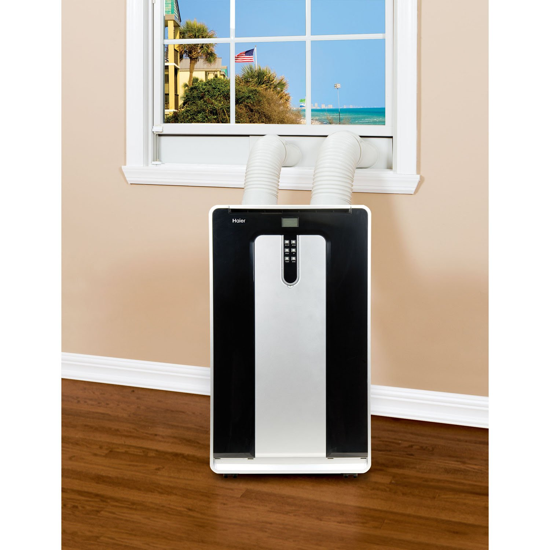 000 BTU Heat Mode Haier HPND14XHT 14 000 BTU 115V Dual-Hose Portable Air Conditioner with 10