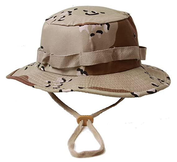 Amazon.com  Khaki Military Boonie Hat (Polyester Cotton) 5813 Size ... e84aef0a8de