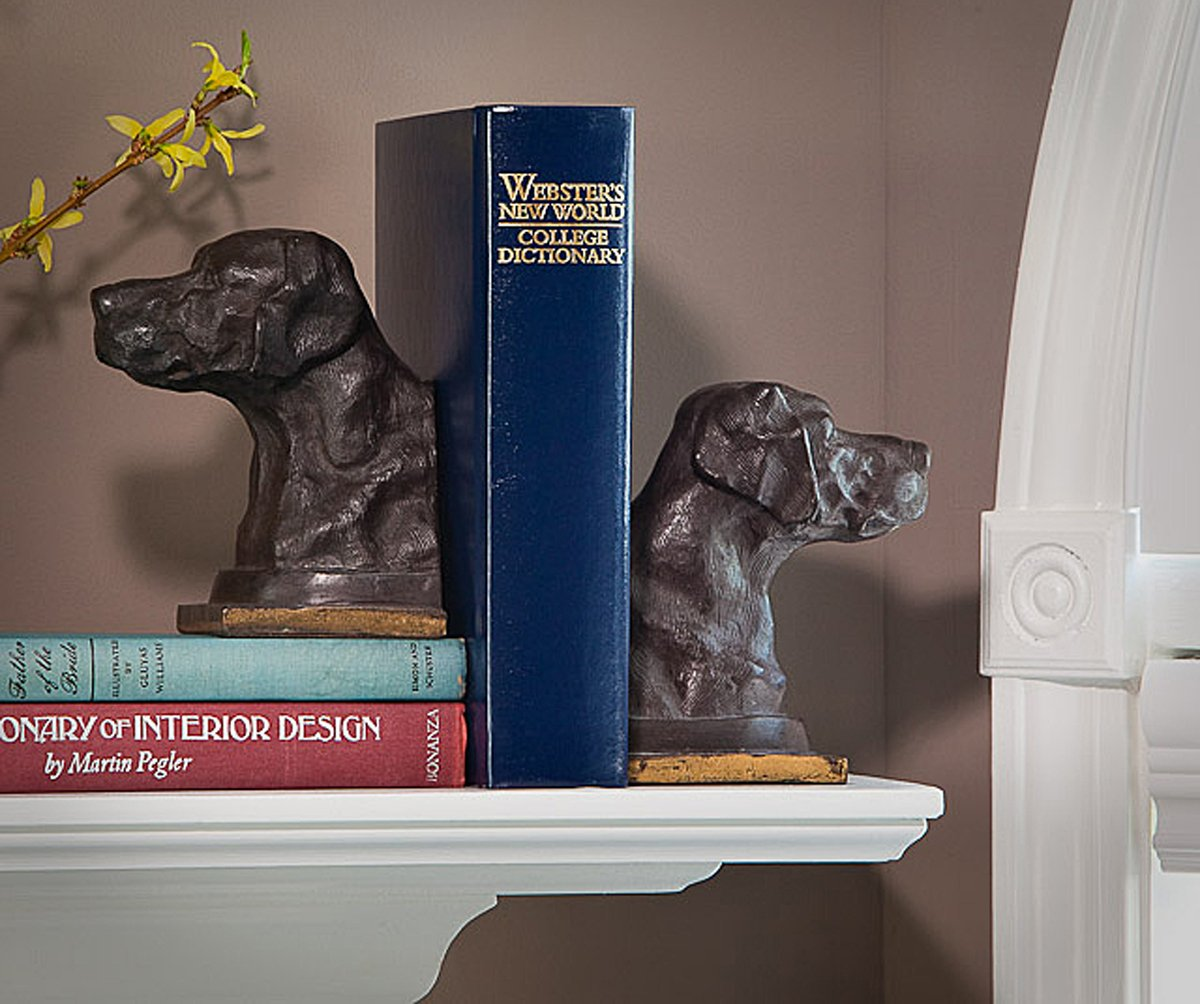 Bookends - Labrador Retriever Bookends - Bronze Finish Lab Bookends - Lab Book Ends by KensingtonRow Home Collection