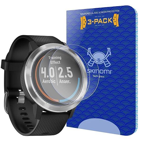 c3c61f925 Garmin Vivoactive 3 Screen Protector (3-Pack), Skinomi Tech Glass Screen  Protector