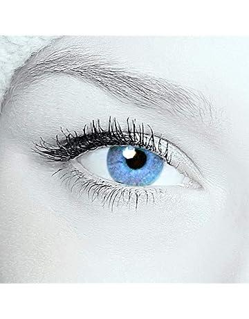 27ef217da87578 Eye-Effect 2 lentilles de contact Bleu vert Sans correction Utilisables  pendant 12 mois Avec