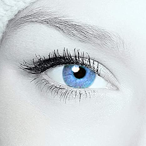Par de lentes de contacto azules, lentillas anuales sin graduar, incluyen estuche gratuito, lentillas azules para ojos oscuros