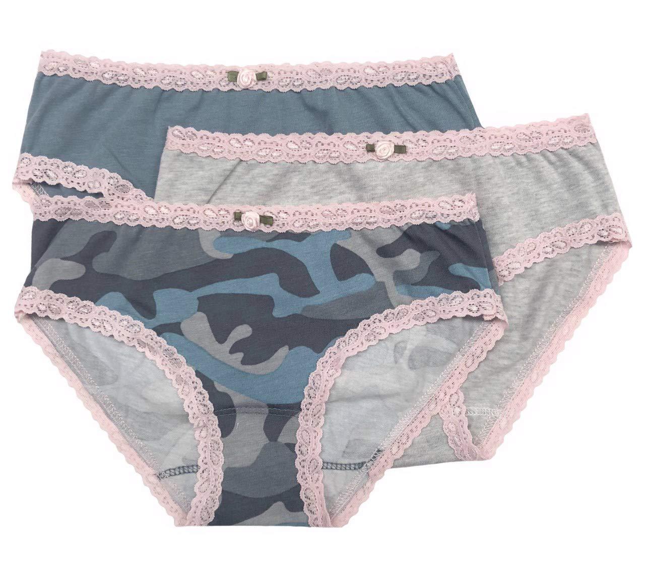 df8b421e69bb Galleon - Esme Girl's Panty-S 4-5 Camo