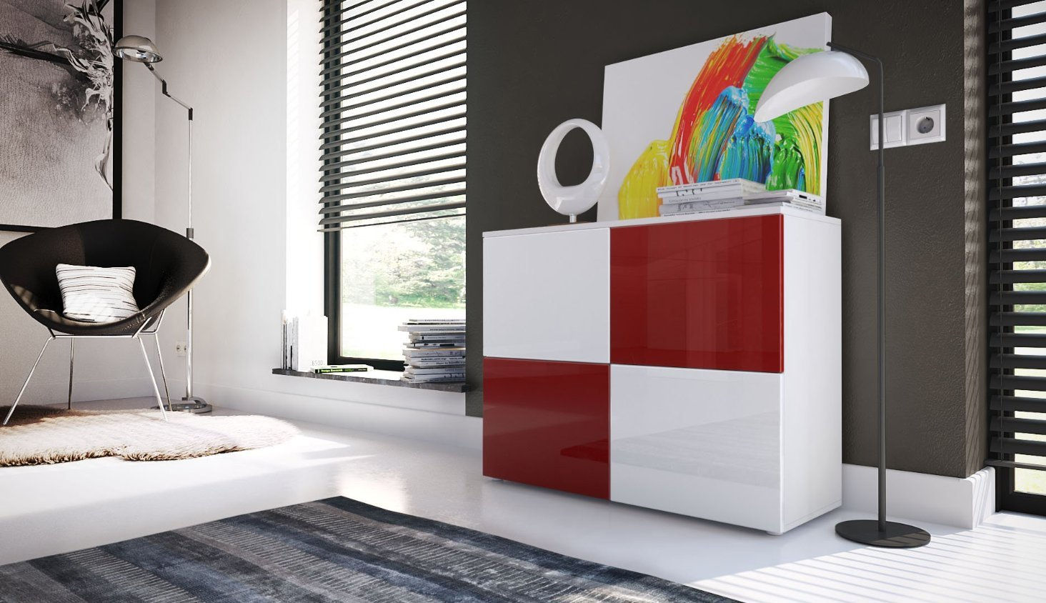 Mobile Credenza Per Soggiorno : Comò moderno skate mobile soggiorno di design bianco credenza per