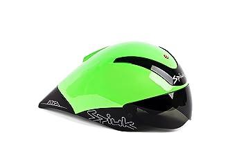 Spiuk Aizea - Casco de ciclismo, color verde/negro, talla 53-61