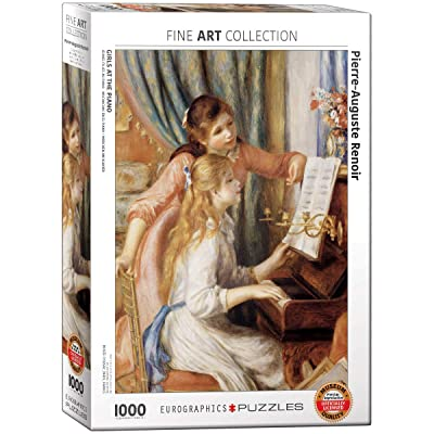 EuroGraphics Girls at Piano by Pierre Auguste Renoir 1000 Piece Puzzle: Toys & Games