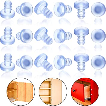 ZXHAO 50pcs 7x7.5mm//0.28x0.3 inch Glass Table Top Rubber Anti Collision Embedded Soft Stem Bumpers 5mm//0.2 inch Theard