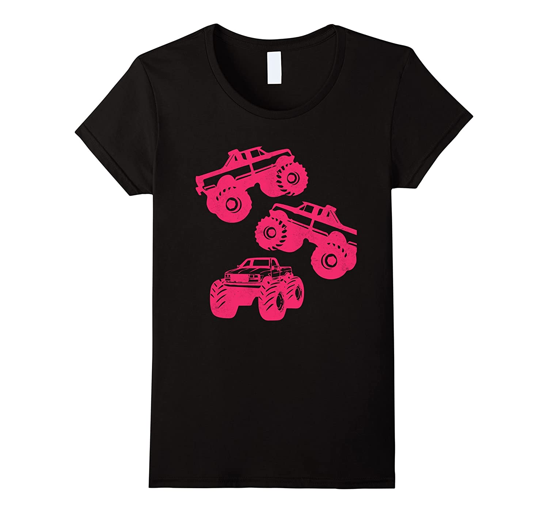 Monster Truck Shirt for Girls & Toddler - Gift Tshirt Pink-ah my shirt one gift