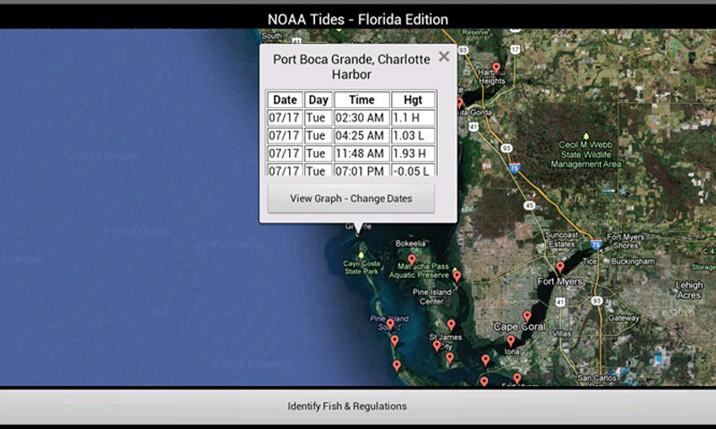 Tides florida edition by noaa with florida for Florida fishing license requirements