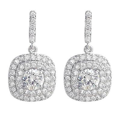 iMing Fashion Earrings Round-Cut Cubic Zirconia Stud Dangle Earrings Jewelry Gift T2wAqlP