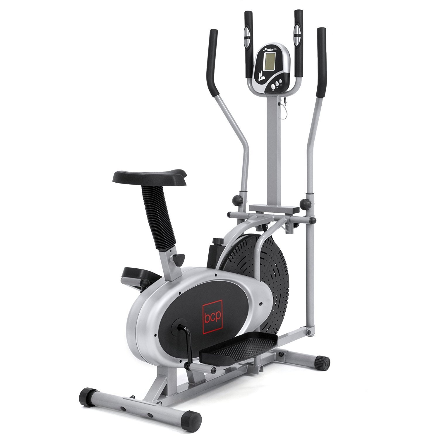 Elliptical Bike 2 IN 1 Cross Trainer Exercise Fitness Machine Upgraded Model by Best Choice Products