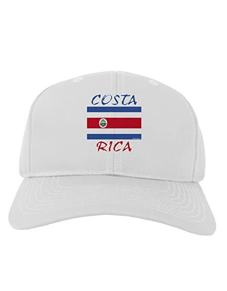 Amazon.com  TooLoud Costa Rica Flag Adult Baseball Cap Hat - White  Clothing 3267b4f1c9d