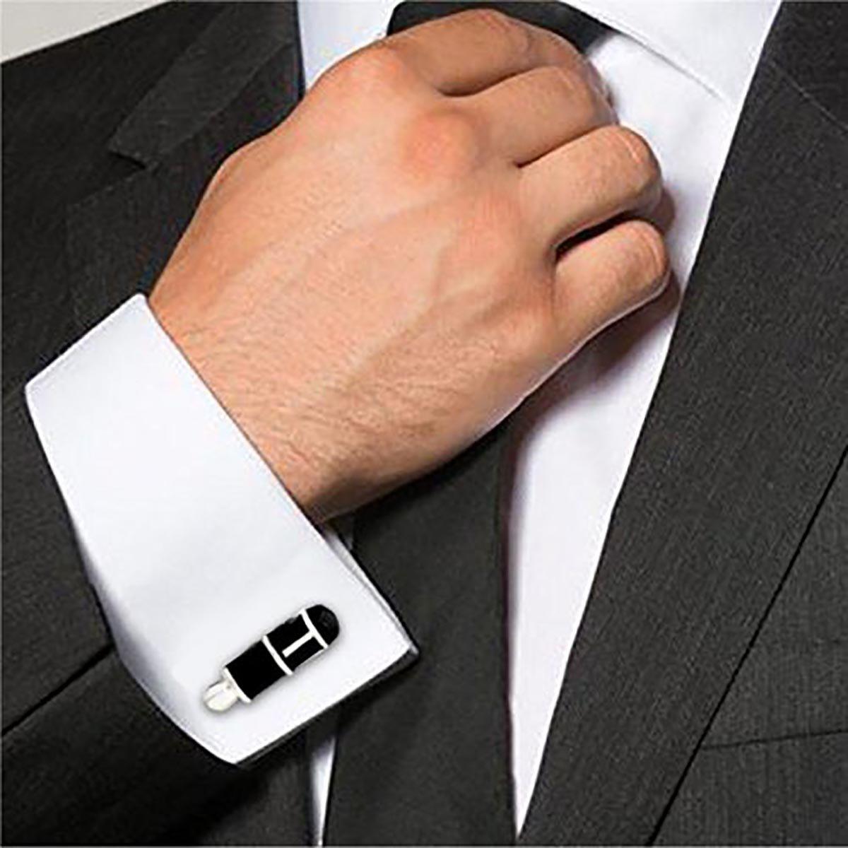 The Jewelbox Pen Writer Black Rhodium Plated Brass Formal Shirt Blazer Suit Lapel/Brooch Pin Men Gift Box by The Jewelbox (Image #4)