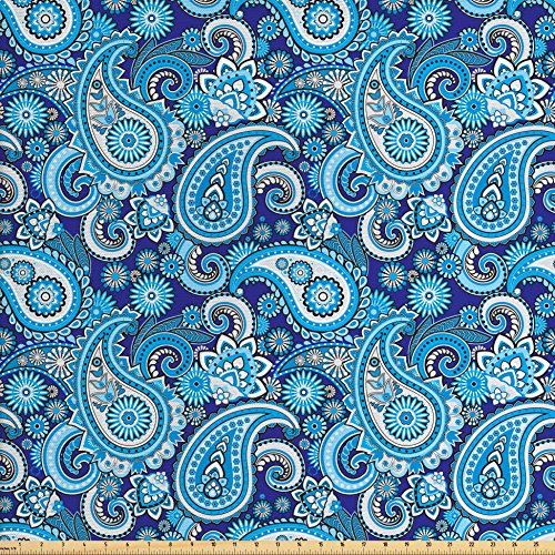 Paisley Decor Fabric by the Yard by Ambesonne, Traditiona...