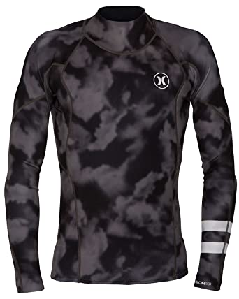 Amazon.com  Men s Hurley Fusion 101 LS Surf Jacket Wetsuit Top Black Grey  (XL)  Clothing 3bff69381