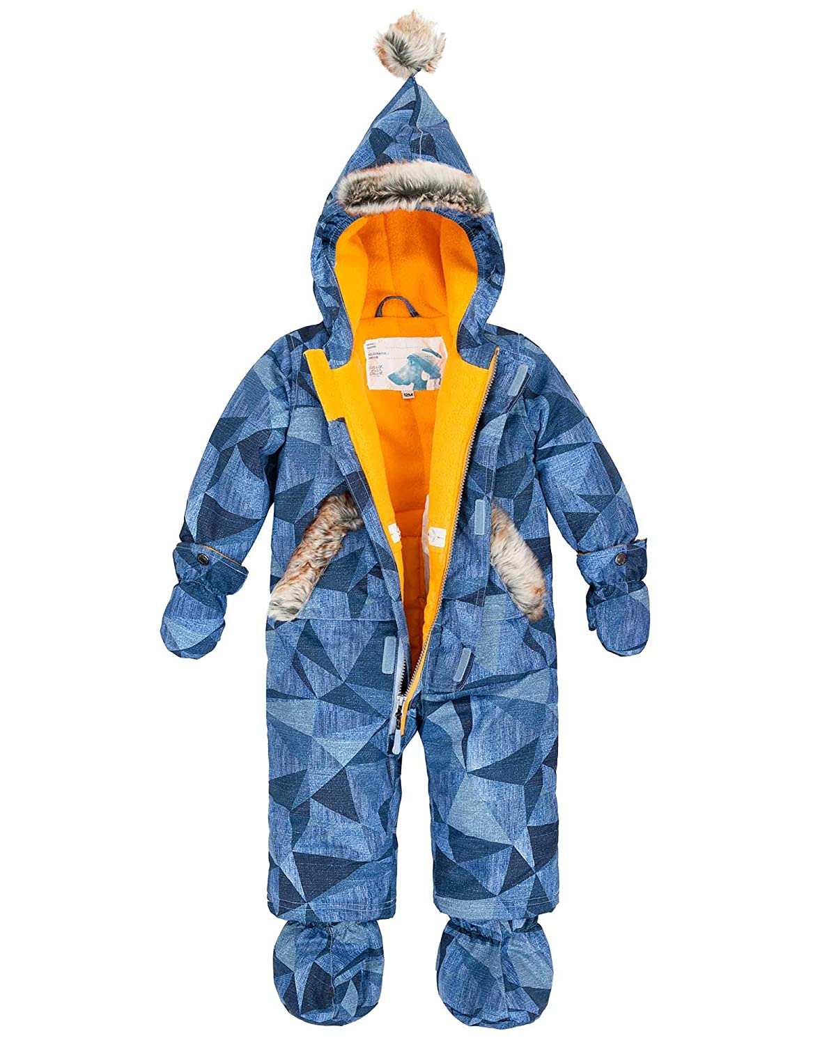 Deux par Deux Little Boys 1-Piece Snowsuit Geo Jeans Sizes 12M-24M