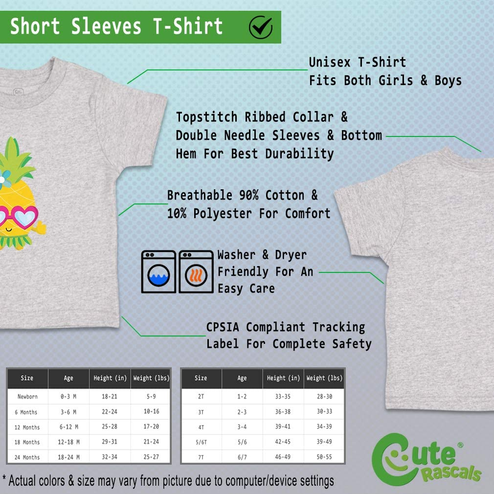 Custom Baby /& Toddler T-Shirt Pineapple Pink Glasses Girl Boy Girl Clothes